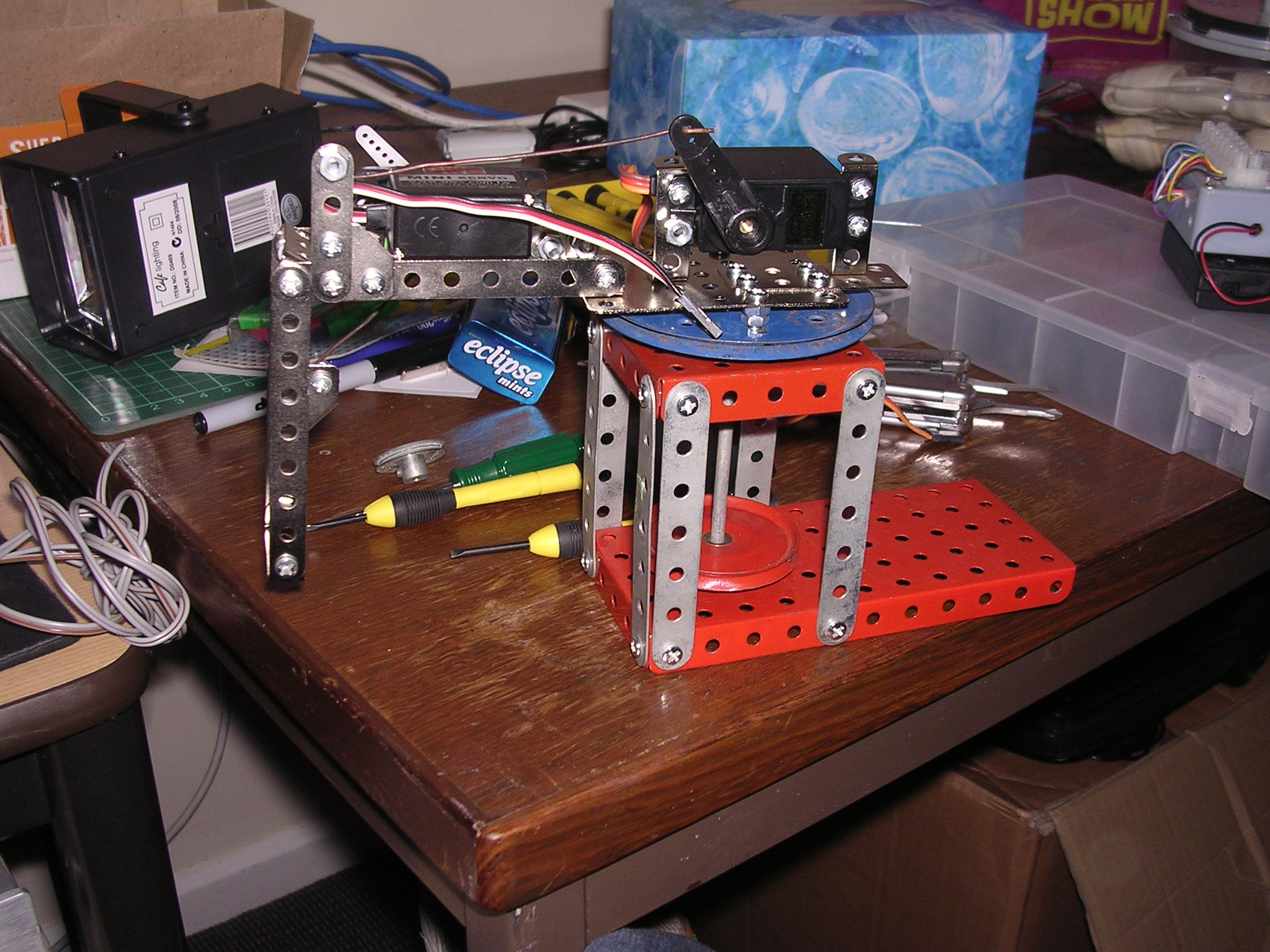 Simple Meccano Robot Arm Redone Diy Data Motor Reversing Switches Electronics In