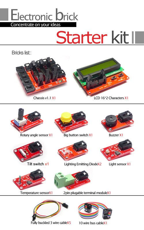 seed   studio electronic bricks starter kit