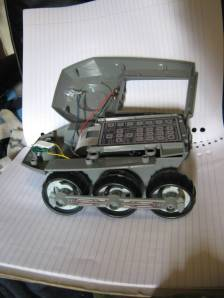 the bigtrak with the top unscrewed